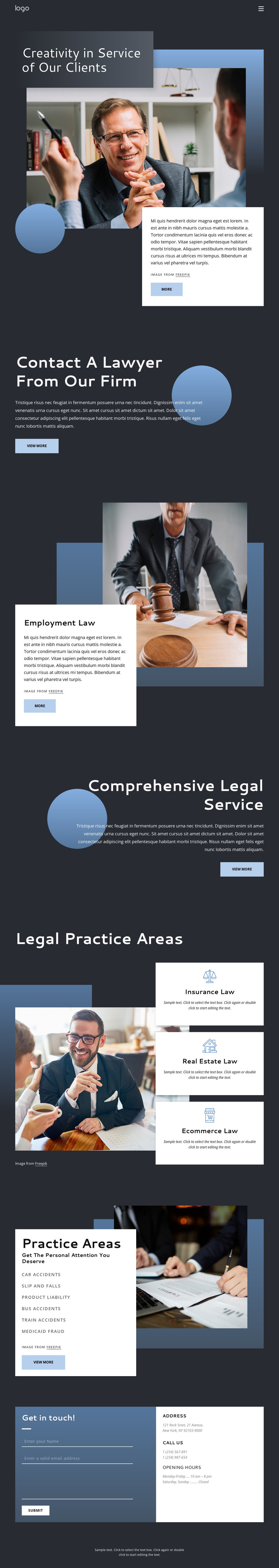 Experienced legal advice HTML Template