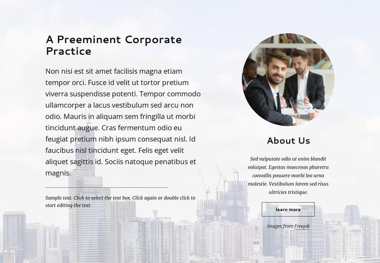 Preminent corporate practice Website Builder Software