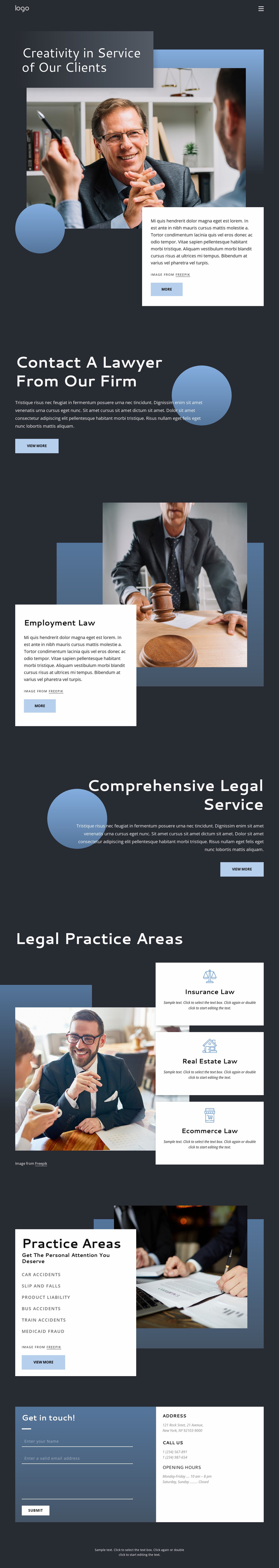 Experienced legal advice Website Template