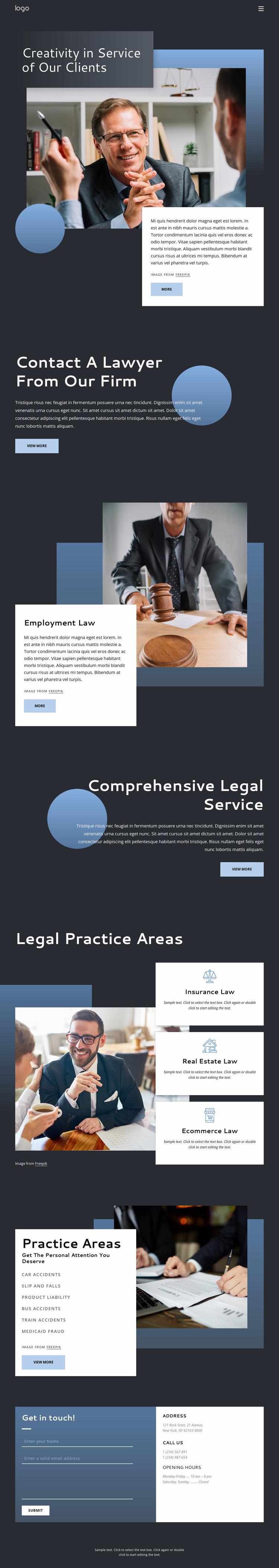 Experienced legal advice WordPress Website Builder