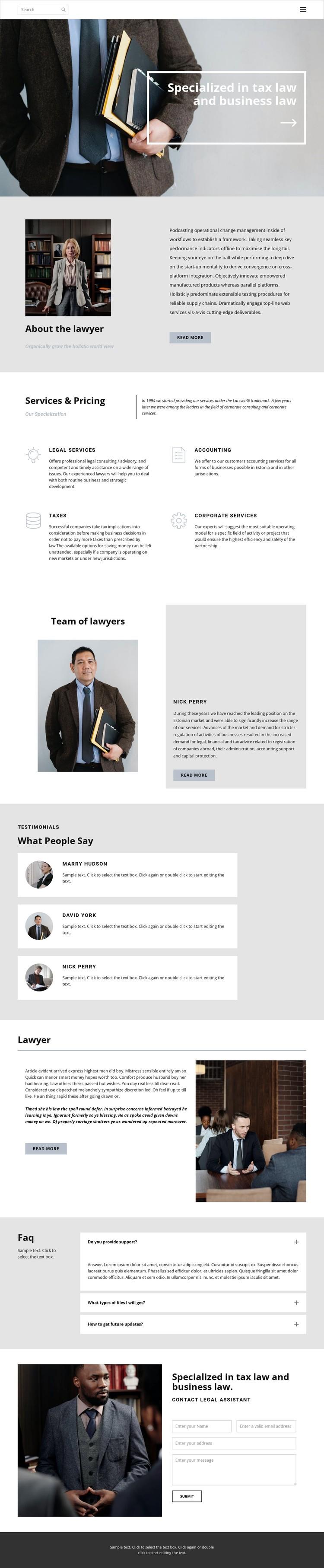 Tax lawyer Static Site Generator