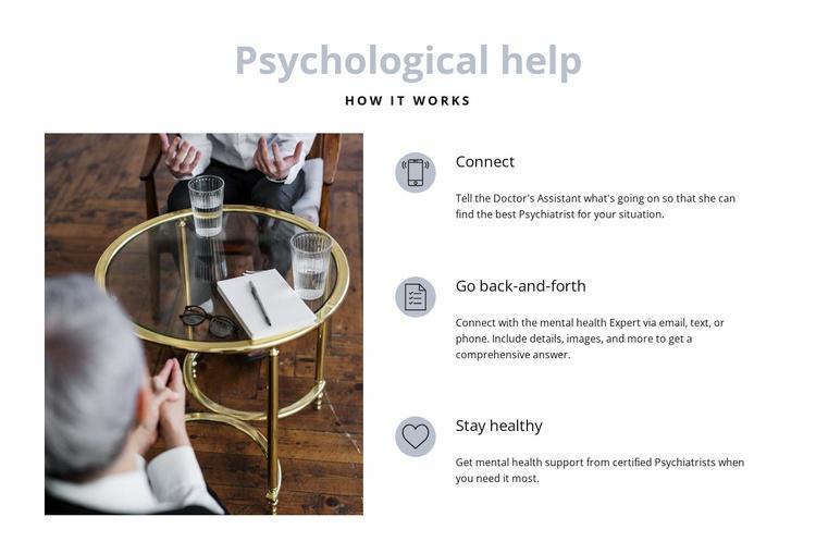 Psychological help Website Template