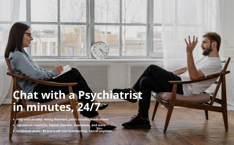 Psychologist support WordPress Website Builder