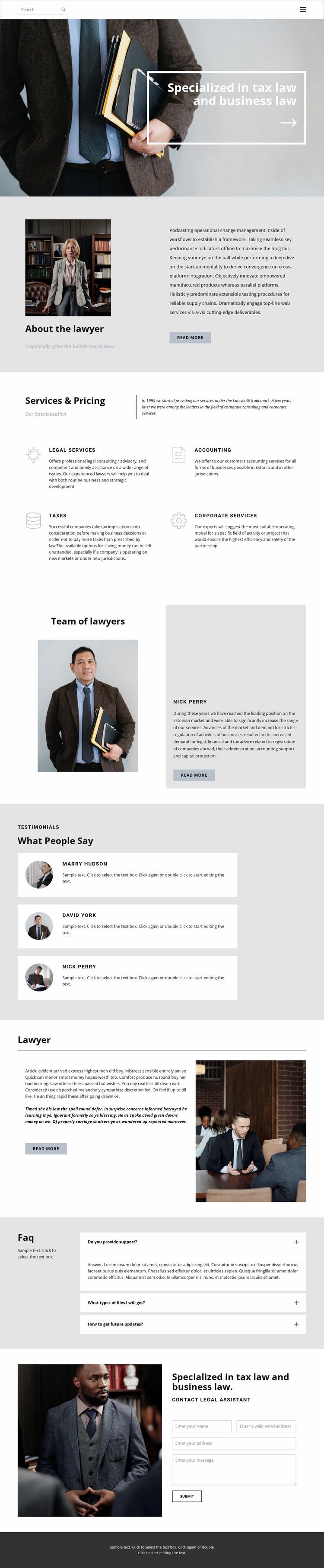 Tax lawyer WordPress Website Builder