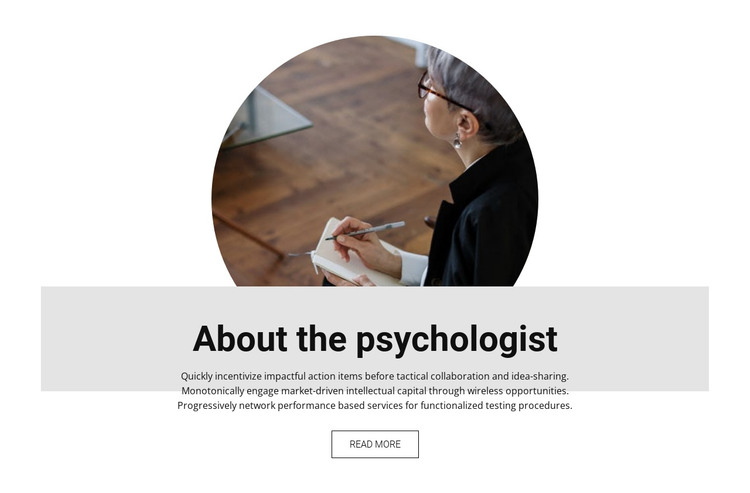 About the psychologist HTML Template