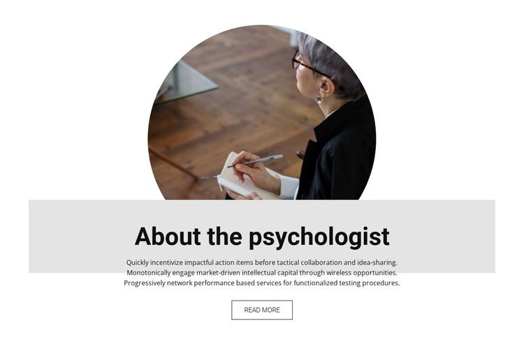 About the psychologist Web Design