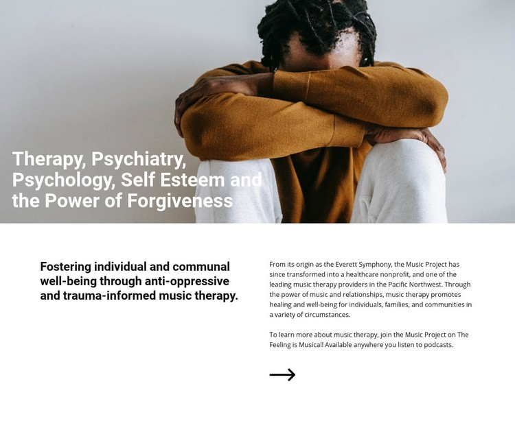 Music therapy Web Page Design