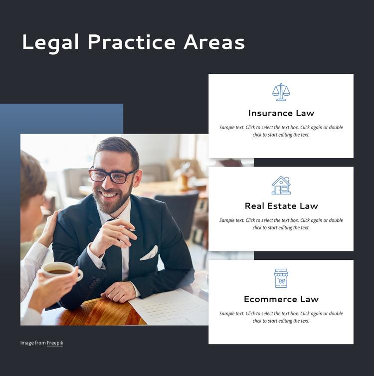 Legal practice areas Website Builder Software