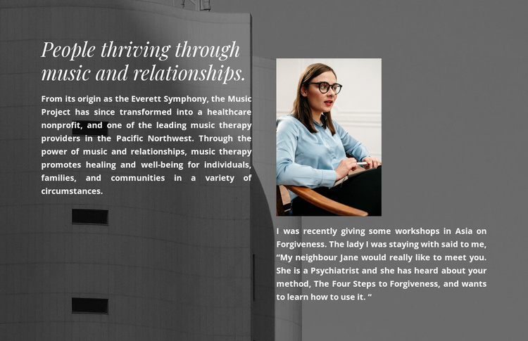 Psychologist therapy Website Template