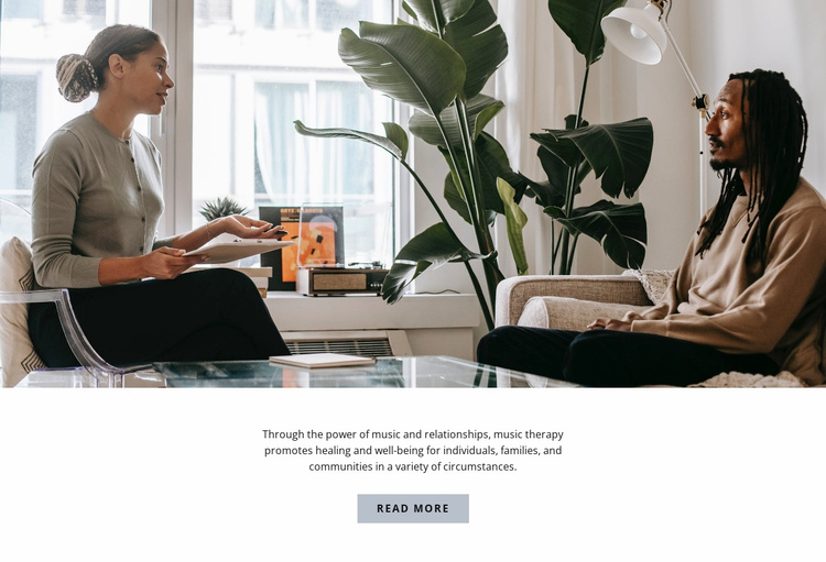 First appointment with a psychologist Website Template
