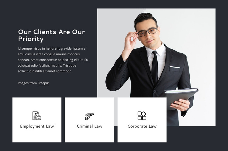Our clients are our priority HTML Template