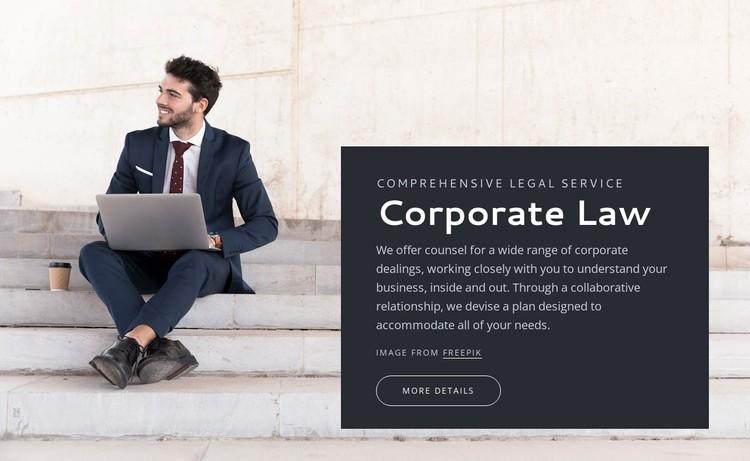 Corporate law Static Site Generator