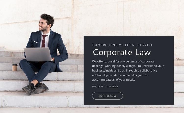 Corporate law Web Page Design