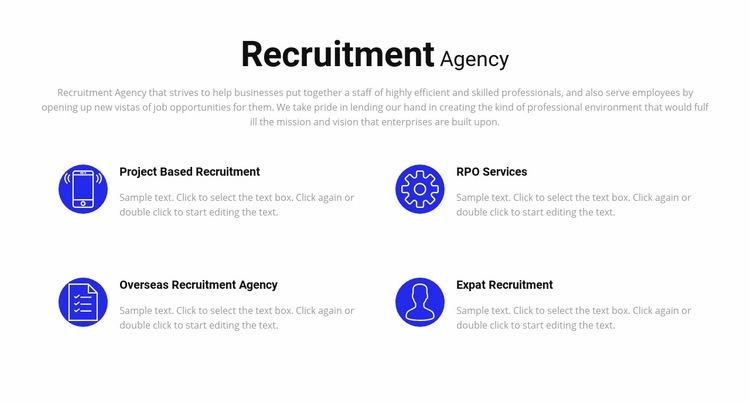 Recruitment services Web Page Design