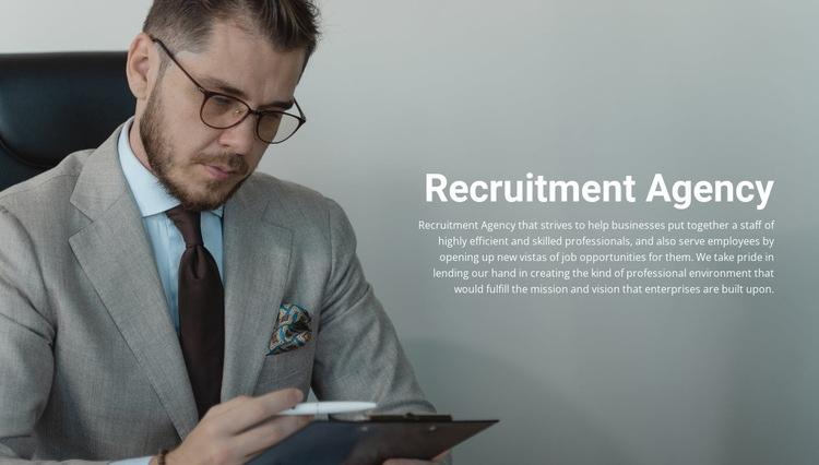 Recruitment company Web Page Design