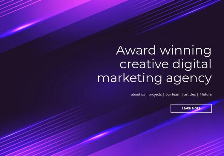 Award winning digital agency Html Code Example
