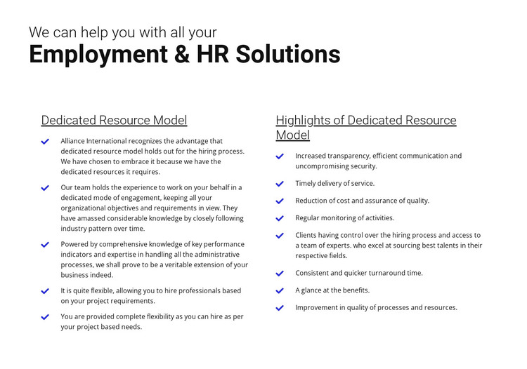Easy employment HTML Template