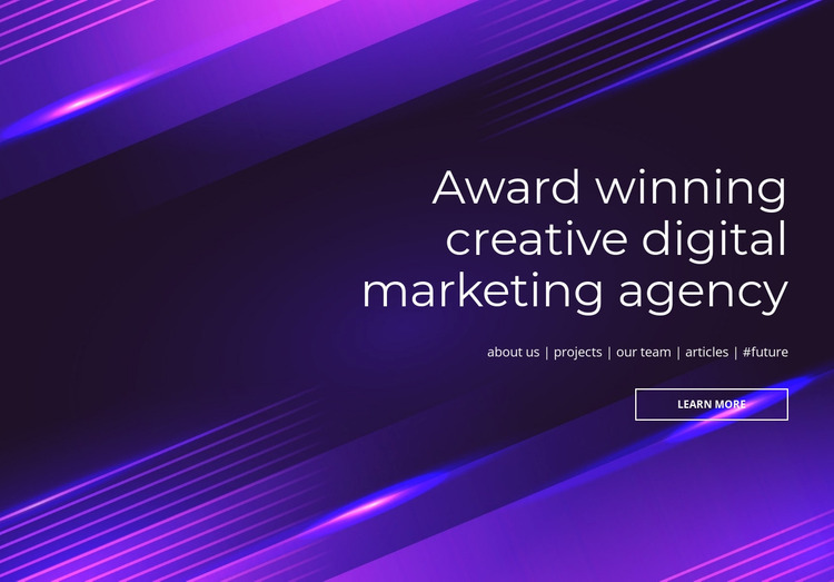 Award winning digital agency Html Website Builder
