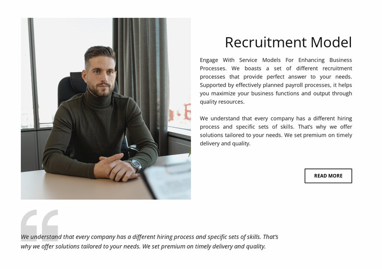 Recruitment model Html Website Builder