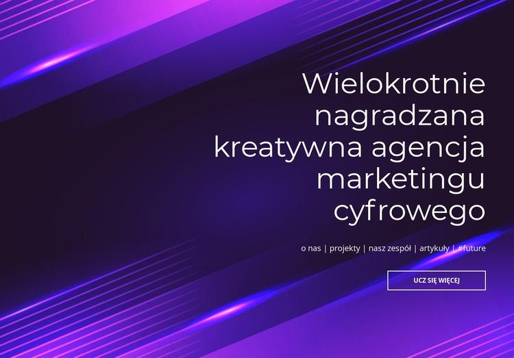 Wielokrotnie nagradzana agencja cyfrowa Szablon witryny sieci Web