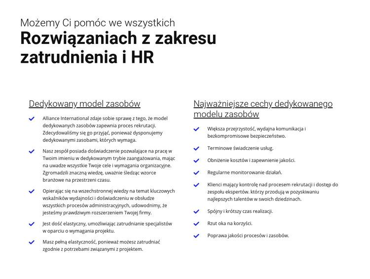 Łatwe zatrudnienie Szablon witryny sieci Web