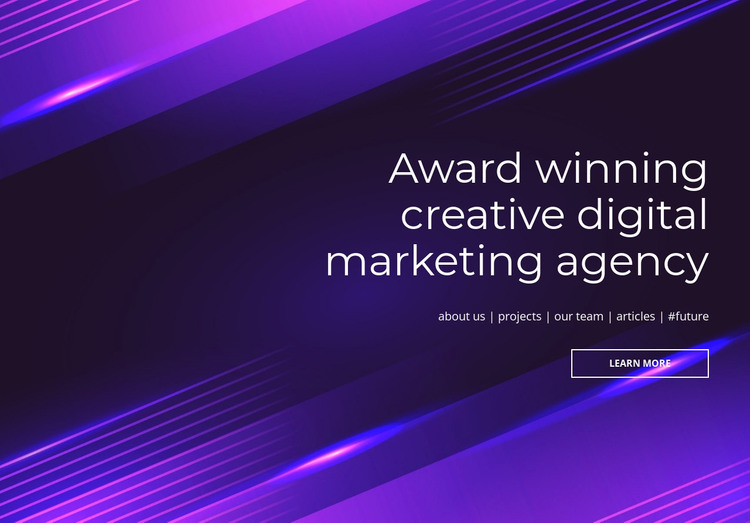 Award winning digital agency Web Design