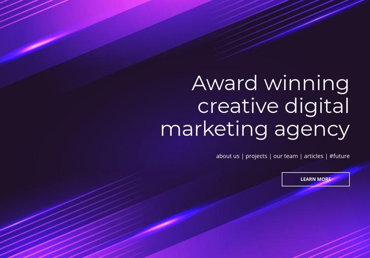 Award winning digital agency Web Page Design
