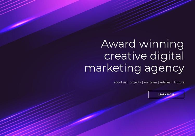 Award winning digital agency Website Mockup