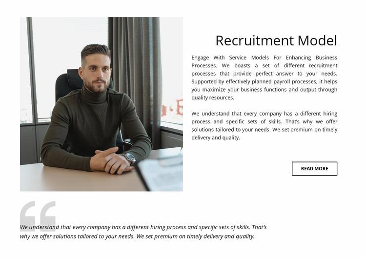 Recruitment model Website Mockup