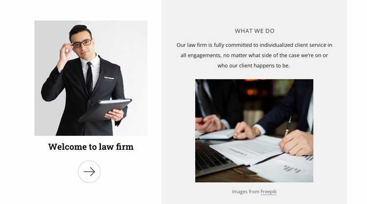 Welcome to law firm Website Template
