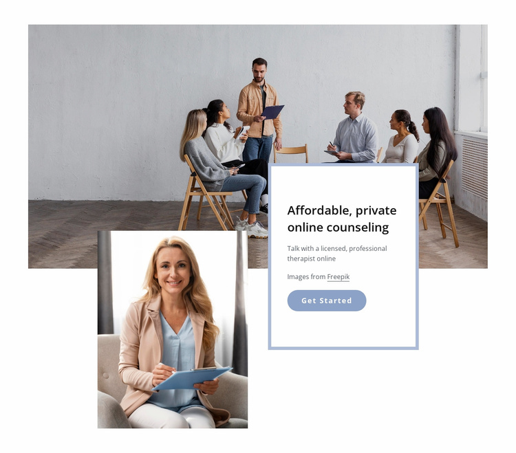 The group therapy session Website Template