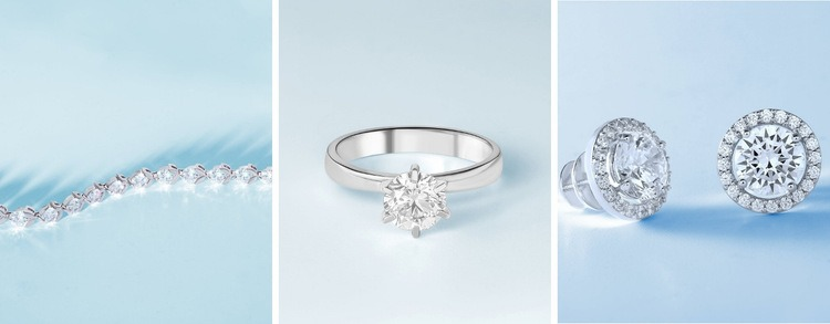 Diamond collection Homepage Design