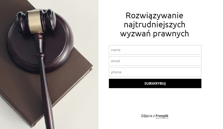 Rozwiązywanie najtrudniejszych wyzwań prawnych Szablon witryny sieci Web