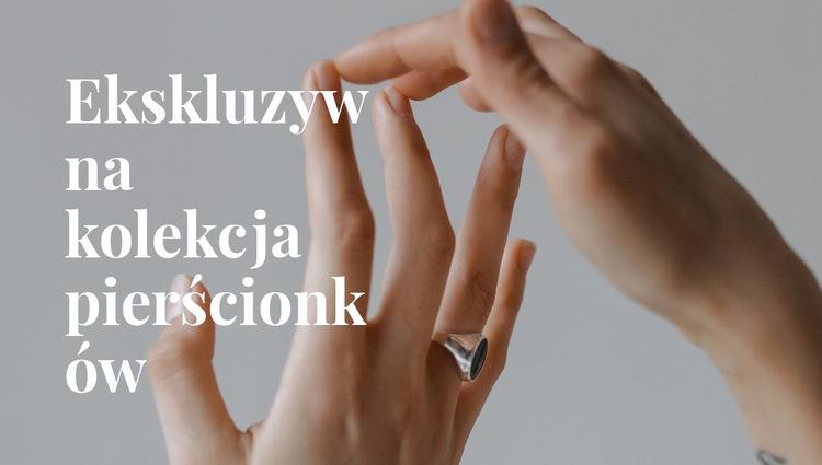 Ekskluzywna kolekcja pierścionków Szablon witryny sieci Web