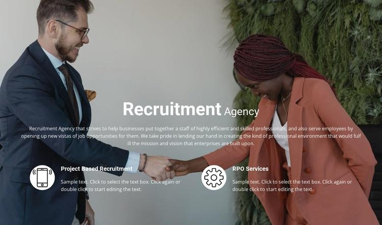 Recruitment Web Page Design