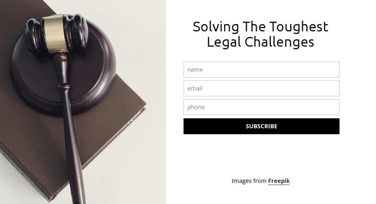 Solving the toughest legal challenges Web Page Design