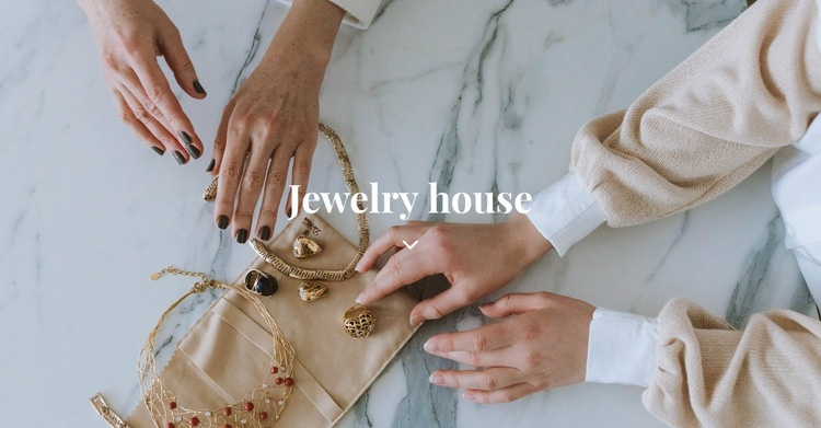 Jewelry house Web Page Design
