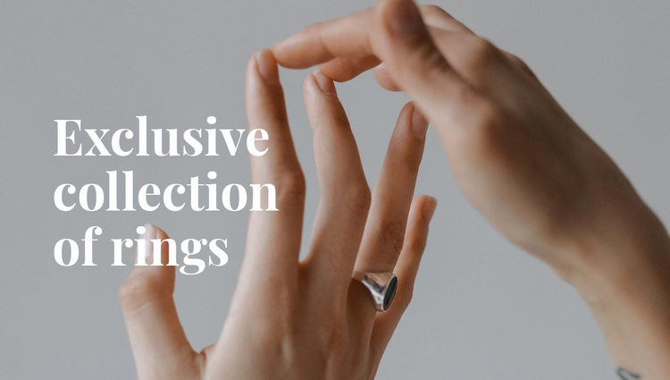 Exclusive collection of rings Website Design