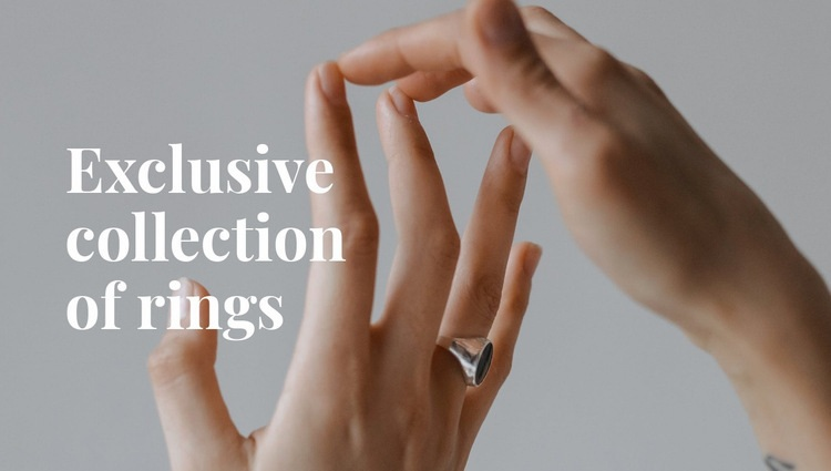 Exclusive collection of rings Website Maker