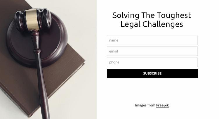 Solving the toughest legal challenges Website Mockup