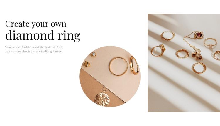 Your own diamond ring WordPress Theme