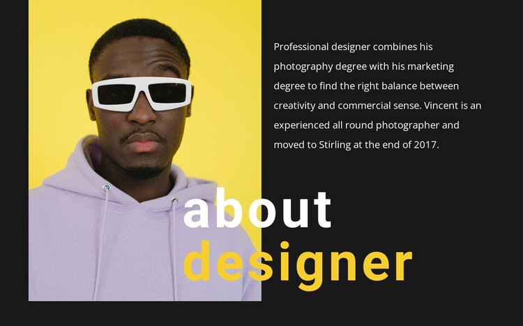 Bright and talented Web Page Designer