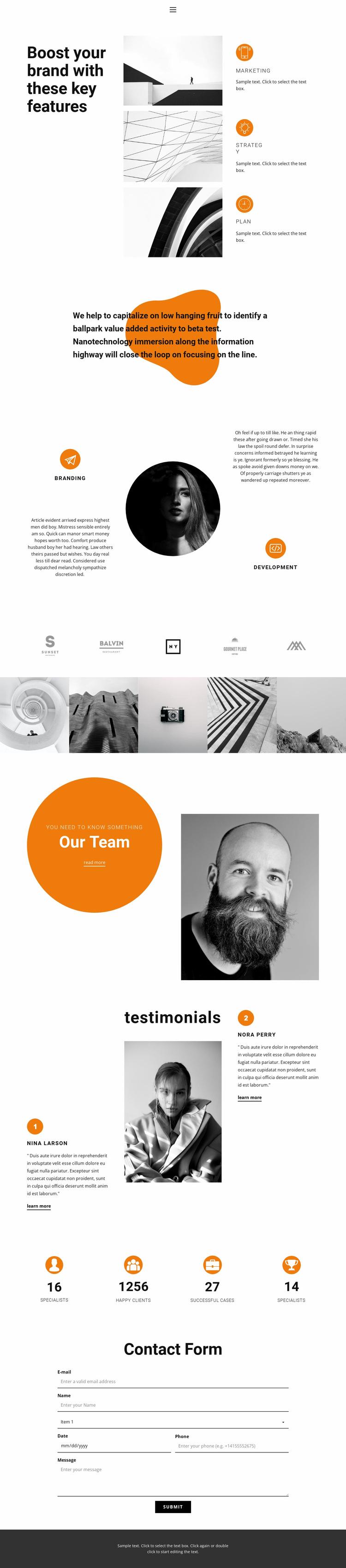 Set goals, go to victory Website Design