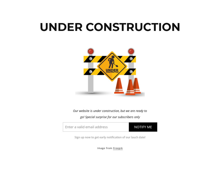 Our website is under construction Website Builder Software