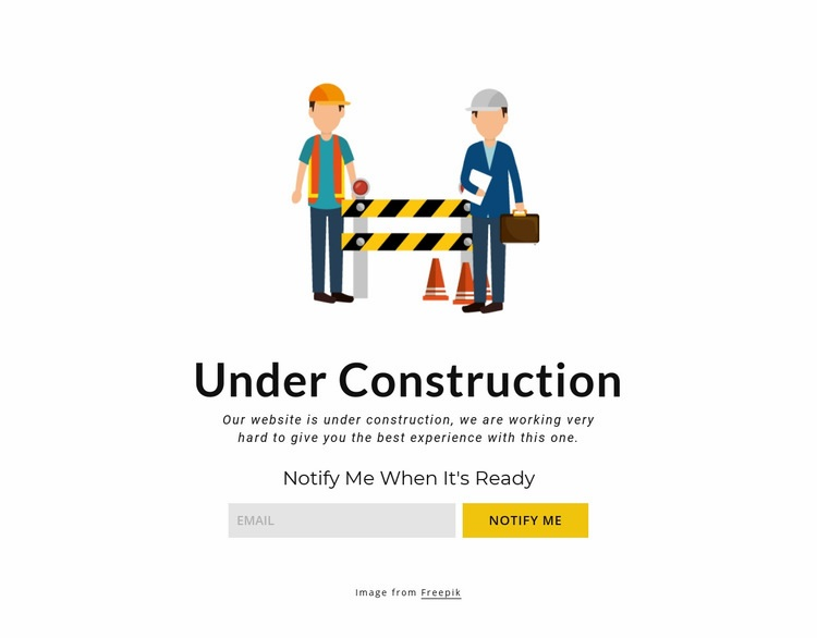 Maintenance block Web Page Design