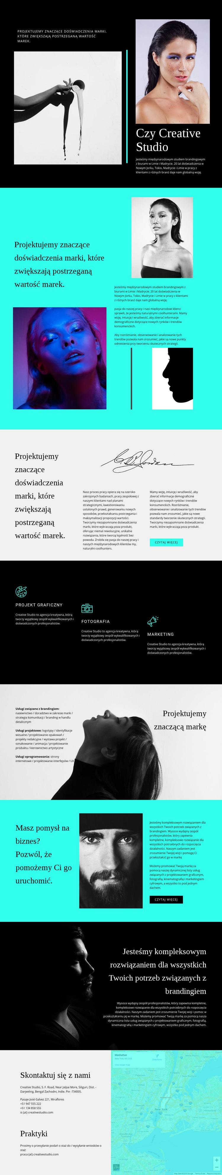 Tworzenie pomysłowych rozwiązań Szablon witryny sieci Web