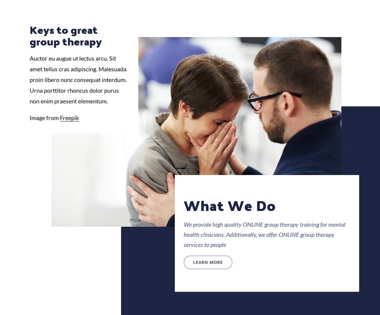 Keys to group therapy HTML Template