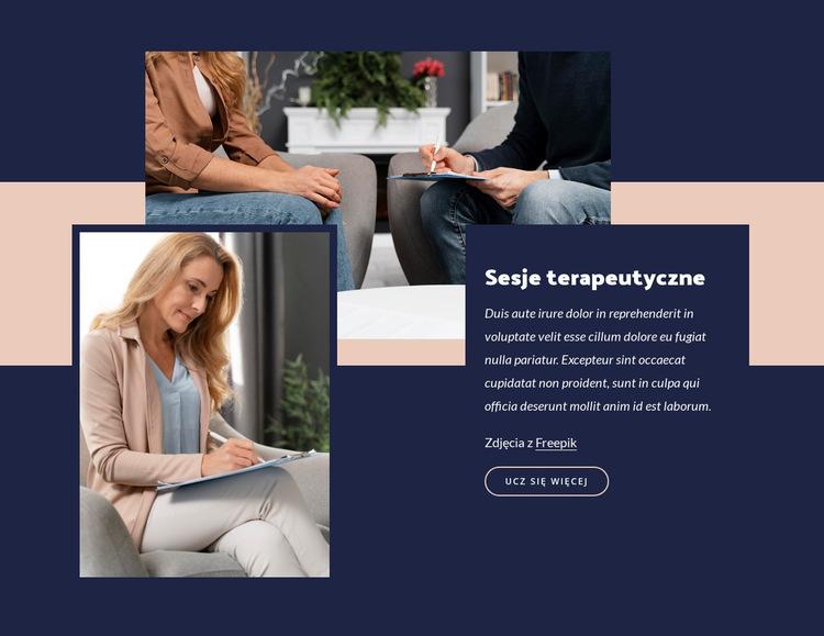 Korzyści z terapii grupowej Szablon witryny sieci Web