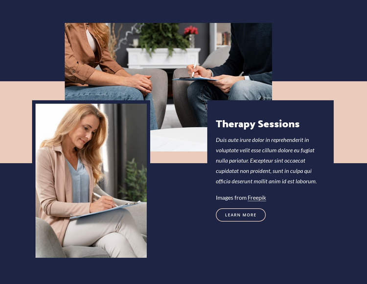 Group therapy benefit Website Mockup