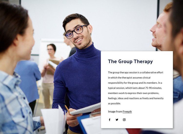 The group therapy HTML Template
